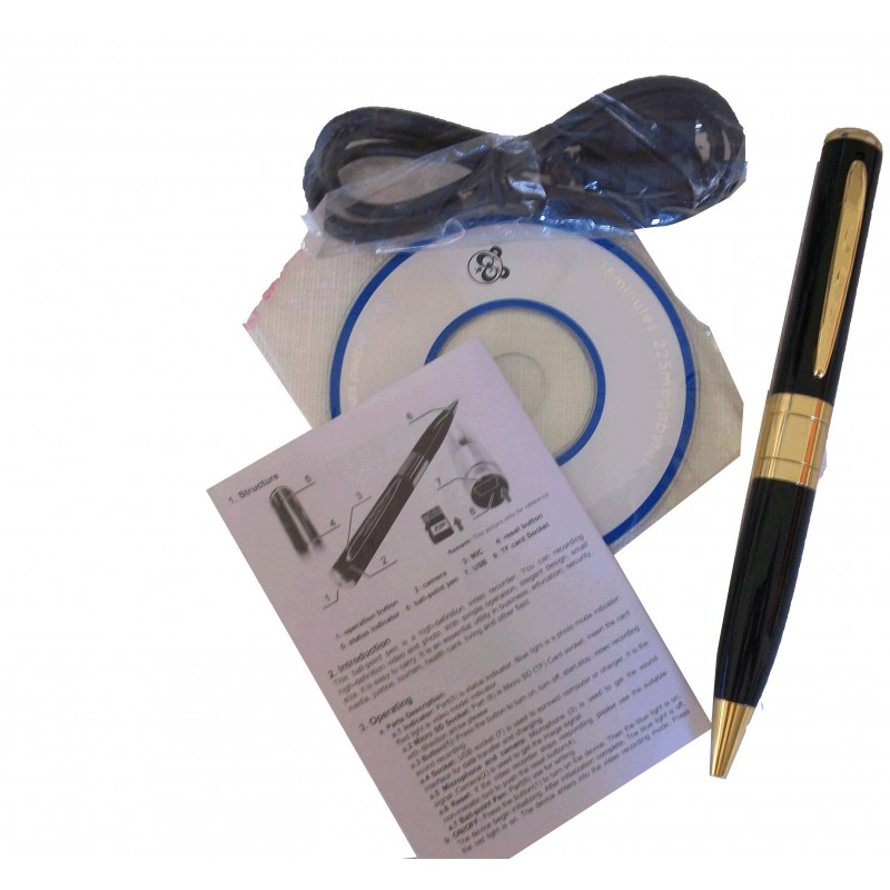 stylo espion camera et micro