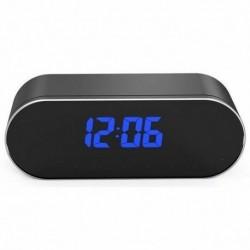 Réveil camera espion Full HD 1080P Wifi vision de nuit noir